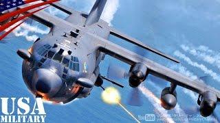 getlinkyoutube.com-ガンシップ 「AC-130U スプーキーII」 砲弾発射! - AC-130U Spooky II Gunship Live Fire!