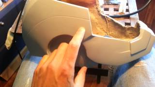 How to Face Plate Iron Man Helmet Motorized Part 3