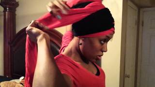 getlinkyoutube.com-Head wrap tutorial by Atarah (Born crown)