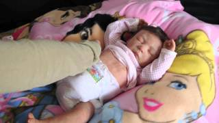getlinkyoutube.com-Reborn baby Dasha and unboxing of kit by Chiquitines Reborns