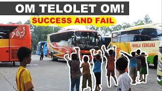 """What is OM TELOLET OM! Win and fail of asking """"TELOLET"""" bus horn sound :))"""