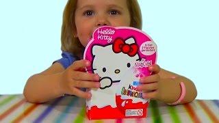 getlinkyoutube.com-Хелло Китти Киндер Сюрприз игрушки распаковка HELLO KITTY Kinder Surprise toys for girls