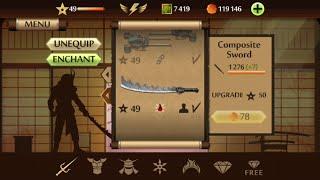 getlinkyoutube.com-Shadow Fight 2 - Weapon Review - COMPOSITE SWORD