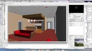 getlinkyoutube.com-ArchiCAD 18 Adding Lights and Camera Rendering