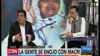 Entrevista en El Destape con Roberto Navarro