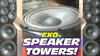 getlinkyoutube.com-DIY Home Speaker Towers... PLAYING Upbeat Electronic Dance Music w/ EXO's Floor Standing Speakers