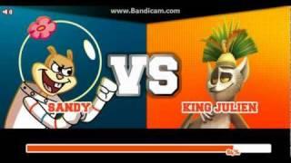 getlinkyoutube.com-Super Brawl 2 - SANDY CHEEKS vs KING JULIAN