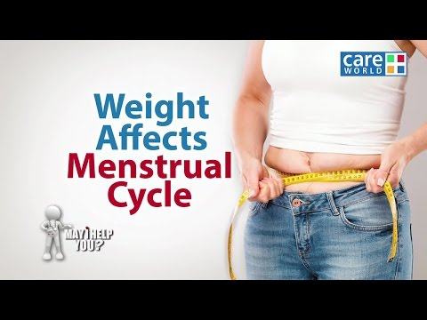 Weight Affects Menstrual Cycle - Dr. Charmi Deshmukh - May I Help You?