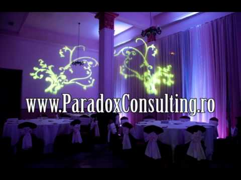 lumini ambientale nunta Arad www.ParadoxConsulting.ro gobo monograme logo nunta