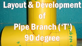 getlinkyoutube.com-Layout and Development of Pipe Branch 90 degree