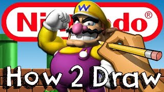 getlinkyoutube.com-How To Draw Wario From Super Smash Bros | Drawing & Coloring & Learning
