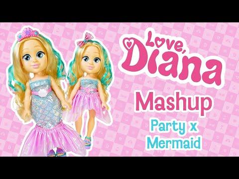 "Love Diana 13"" Doll Mashup Party Mermaid"