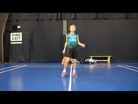 Badminton Trick shot tutorial- Around the back