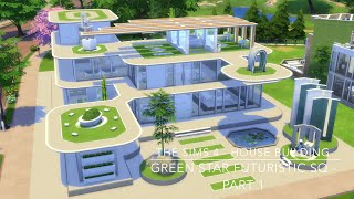getlinkyoutube.com-The Sims 4 - House Building - Green Star Futuristic SQ - Part 1