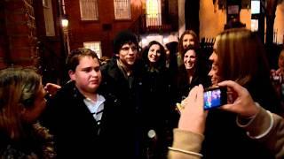 getlinkyoutube.com-Jesse Eisenberg swarmed by female fans asking for autographs