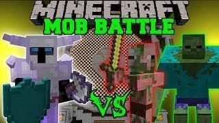 getlinkyoutube.com-KNIGHT VS TONS OF ZOMBIES - Minecraft Mod Battle - Mob Battles - Mods