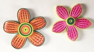 getlinkyoutube.com-How To Make Beautiful Quilling Flower Using Combing Technique | DIY Paper Quilling Tutorial