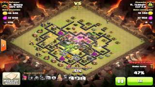 getlinkyoutube.com-Ataque MEGA TH9 [Sin Sacar Castillo / 2 rabias, 1 Cura, 1 Salto]