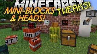 getlinkyoutube.com-Minecraft Tweaks: MINI-BLOCKS! Baby TNT! MOB HEADS!