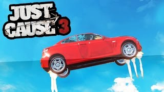 getlinkyoutube.com-BUILDING A CAR THAT CAN FLY IN JUST CAUSE 3! (Just Cause 3)