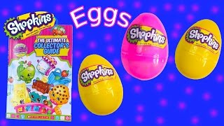 getlinkyoutube.com-Shopkins Season 1 and 2 Surprise 3 Mystery Eggs Ultimate Collector's Guide Book Toy Review Video