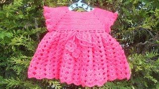 getlinkyoutube.com-Vestidinho crochê lequinhos rosa parte 1