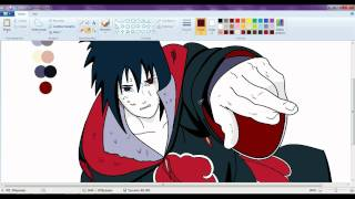 getlinkyoutube.com-drawing sasuke akatsuki with amaterasu requested By (AltairAC2)