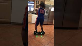getlinkyoutube.com-Jazz Lean & Dabb'ing Hoverboard Style on her Lil Sis's Christmas Gift
