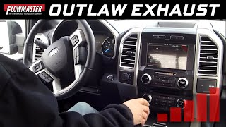 getlinkyoutube.com-Flowmaster Outlaw Cat-back (Interior) - 2015-2017 Ford F150 Trucks (all engines) - 817726
