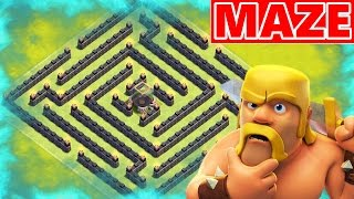 getlinkyoutube.com-Clash Of Clans | EPIC LOOT MAZE BASE! Weird Town Hall 8 (TH8) Farming Base