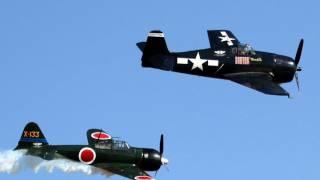 getlinkyoutube.com-2011 Great Park El Toro Air Show - F6F Hellcat & Zero Dogfight