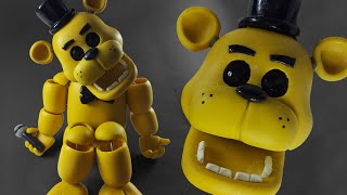 "GOLDEN FREDDY ""TUTORIAL"" ✔PORCELANA FRIA ✔POLYMER CLAY ✔PLASTILINA"