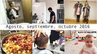 getlinkyoutube.com-Primer CORTE PELO Julen / HAUL ROPA / OBRAS casa / PORTEO tándem / Mellizas 7-8 meses