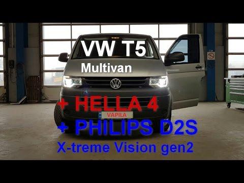 VW T5 FL делаем бомбовый свет и как он превратился в Multivan
