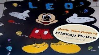 getlinkyoutube.com-Mickey Mouse (( Tamaño Jumbo, En Foami ))