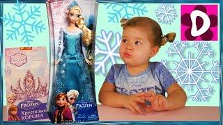 getlinkyoutube.com-✿ Покупаем в Магазине FROZEN Кукла Эльза Выращиваем Кристалы на Короне Frozen Elsa Kids Toys Disney