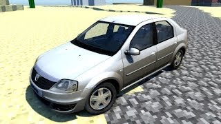 getlinkyoutube.com-BeamNG.Drive Mod : Dacia Logan 2008 (Crash test)
