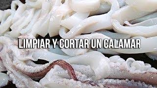 getlinkyoutube.com-Cómo limpiar y cortar un calamar
