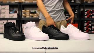getlinkyoutube.com-Classic Look at the Air Force 1 Mid & Low at Exclucity