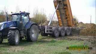 getlinkyoutube.com-FENDT 936 NH Blue power et deutz : 7 tracteurs et bennes 3 essieux au TP