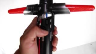 getlinkyoutube.com-Star Wars he force awakens: Kylo Ren Electronic light saber:Blade builders