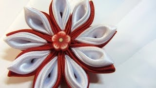 getlinkyoutube.com-Tutorial: Flores Kansashi. Kansashi flowers.