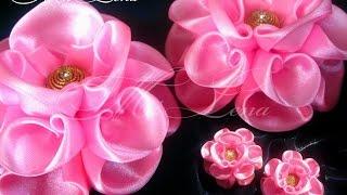 getlinkyoutube.com-Пышный бант из ленты / Мастер-класс / DIY Hair Bow / Beautiful Ribbon Bow / Bow tutorial / Kanzashi