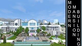getlinkyoutube.com-Futuristic Mansion - The Sims 3 - Into The Future - Building a Modern/Futuristic Mansion