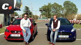 getlinkyoutube.com-Seat Ibiza Cupra vs Ford Fiesta ST - Prueba / Test / Review Coches.net