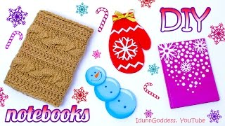 getlinkyoutube.com-4 DIY Winter Notebooks – How To Make Winter Theme Notebooks
