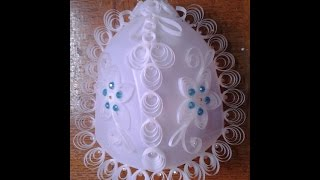 getlinkyoutube.com-Best Out Of Waste Quilling with Plastics - Decorative Wall Lamp