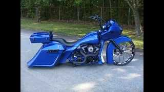 getlinkyoutube.com-Dusty's 26 inch big wheel Road Glide Custom Cycles LTD Harley Davidson Bagger