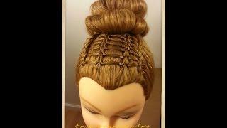 getlinkyoutube.com-Peinados para niñas Tejido Escalera - Hairstyle for Girls Ladder Braid