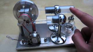 getlinkyoutube.com-Sunnytech Hot Air Stirling Engine with Electrical Motor Model Toy Review